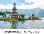 bali water temple   pura ulun...   Shutterstock . vector #697478419