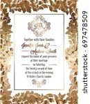 vintage baroque style wedding... | Shutterstock . vector #697478509
