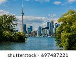 beautiful toronto's skyline... | Shutterstock . vector #697487221