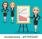 business woman giving a... | Shutterstock . vector #697493269