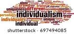 individualism word cloud... | Shutterstock .eps vector #697494085