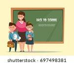 vector illustration group... | Shutterstock .eps vector #697498381
