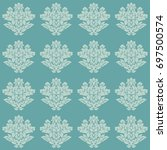 damask seamless pattern... | Shutterstock . vector #697500574