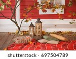 Autumn Picnic On The Veranda O...