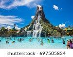 usa. florida. orlando. august ... | Shutterstock . vector #697505824