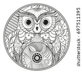 owl. mandala. zentangle. hand... | Shutterstock .eps vector #697511395