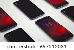 new smartphone fall 2017 3d... | Shutterstock . vector #697512031