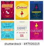 cabaret retro posters set ... | Shutterstock .eps vector #697520215