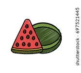 watermelon fruit icon   Shutterstock .eps vector #697521445