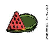 watermelon fruit icon   Shutterstock .eps vector #697522015