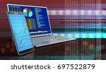 3d illustration of computer... | Shutterstock . vector #697522879