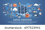 data center cloud computer... | Shutterstock .eps vector #697523941