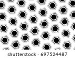 ornament with elements of black ... | Shutterstock . vector #697524487