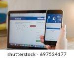 chiang mai  thailand   aug 17 ... | Shutterstock . vector #697534177