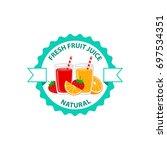 fresh fruit juice natural logo...   Shutterstock .eps vector #697534351