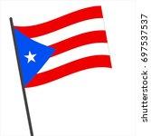 flag of puerto rico   puerto... | Shutterstock .eps vector #697537537