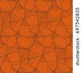 happy halloween seamless... | Shutterstock .eps vector #697542835