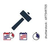 hammer icon  stock vector...
