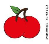 fruit icon image   Shutterstock .eps vector #697551115