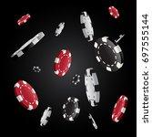 vector casino poker chips... | Shutterstock .eps vector #697555144