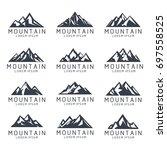 mountain shape icon logo... | Shutterstock .eps vector #697558525