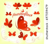 hearts butterfly wings. various ...
