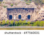 Small photo of LUOYANG, HENAN/CHINA-APR 12: Longmen Grottoes on Apr 12, 2016 in Luoyang, Henan, China. The Grottoes is one of One of China's four Buddhist Caves Art Treasure Houses.