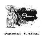king mahabali   happy onam... | Shutterstock .eps vector #697564051