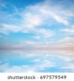Blue Sky Background Abstract...