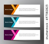 modern banner card design with... | Shutterstock .eps vector #697582825