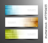 abstract modern colorful... | Shutterstock .eps vector #697593655