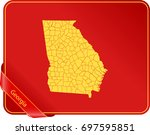 map of georgia | Shutterstock .eps vector #697595851