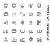 mini icon set   train and...   Shutterstock .eps vector #697612027