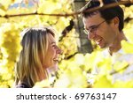 laughing woman and man  couple  ... | Shutterstock . vector #69763147