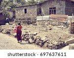 poverty in latin america   poor ... | Shutterstock . vector #697637611