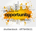opportunity word cloud collage  ... | Shutterstock . vector #697643611
