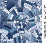 Radial Mosaic Tiles.  Seamless...
