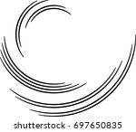 lines in circle form . spiral...   Shutterstock .eps vector #697650835