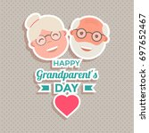abstract happy grandparents day ... | Shutterstock .eps vector #697652467
