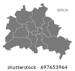 berlin city map with boroughs... | Shutterstock .eps vector #697653964