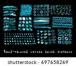 funky hipster scribble vector... | Shutterstock .eps vector #697658269