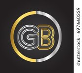 gb letter logo in a circle.... | Shutterstock .eps vector #697660339