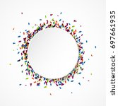 abstract colorful celebration... | Shutterstock .eps vector #697661935