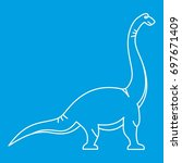 brachiosaurus  icon blue...   Shutterstock .eps vector #697671409