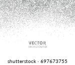 falling glitter confetti.... | Shutterstock .eps vector #697673755