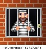 Cartoon Criminal In Jail
