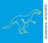 hypsilophodon dinosaur icon...   Shutterstock .eps vector #697673995