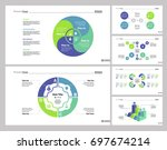 six strategy slide templates set | Shutterstock .eps vector #697674214