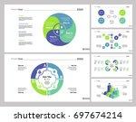 six strategy slide templates set | Shutterstock .eps vector #697674214