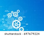 abstract technology... | Shutterstock .eps vector #697679224
